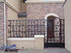 Vitigni - Wrought Iron Grape & Vine Courtyard Entryway - Model: CE0017A