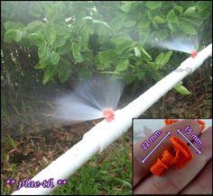 20/50 Irrigation Garden Watering Sprinkler System 180° Misting Hose Plant  Drip #BrandNewHighQuality