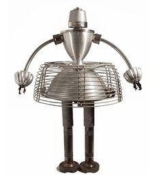 Whimsical World of Laura Bird: Recycled Robots - Gordon Bennett