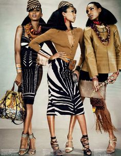 Jordan Dunn, Jasmine Tookes and Anais Mali for W Magazine, March 2012 . .