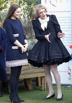 Catherine, Duchess of Cambridge, and Grayson Perry, CBE