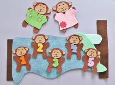 Looking for ideas for preschool circle time activities? Find flannel board ideas and preschool and toddler classroom activities here. Flannel Board Stories, Felt Board Stories, Felt Stories, Flannel Boards, Circle Time Activities, Toddler Activities, Sequencing Activities, Felt Board Patterns, Monkey Crafts