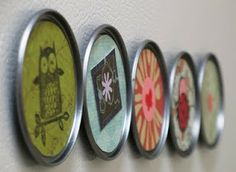 Simple Handmade Gifts – Part Two | One Good Thing by Jillee. Magnets made from juice can lids. Glue a cute picture, photo, fancy paper, or whatever you want to feature to the front.  Attach a magnet to the back with strong glue.  Easy as pie!