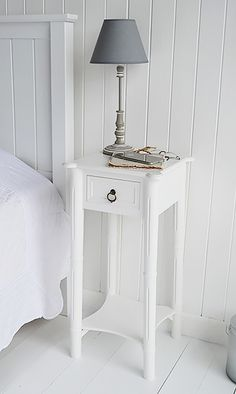 the white lighthouse bedroom furniture a tall narrow white bedside table can be used as a white lamp table from the new england range