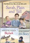 the Sarah, Plain and Tall series by Patricia McLachlan...Skylark, Caleb's Story, More Perfect than the Moon, & Grandfather's Dance