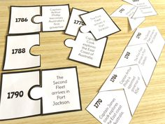 7 Fun Ways to use Timelines in your Classroom - Ridgy Didge Resources Primary School Curriculum, First Fleet, Australian Curriculum, Interactive Notebooks, Writing Skills, Timeline, Fun Activities, Classroom, Place Card Holders