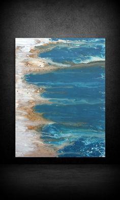 """Art Painting Acrylic Paintings Abstract LARGE Wall Art Coastal Beach Home Decor on Canvas by LDawningScott 30 x 40"""" by LDawningScott on Etsy https://www.etsy.com/listing/214536143/art-painting-acrylic-paintings-abstract"""