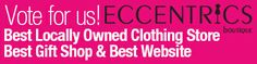 Tell all of your friends to vote for Eccentrics!!! We are in 3 categories:  Goods & Services: Best Gift Shop AND Best Locally-Owned Clothing Store Entertainment: Best Local Website  You have to register with an email address to vote. Please support our local business!  thesouthern.secondstreetapp.com/The-Southern-Illinoisans-Voters-Choice/Ballot/GoodsandServices