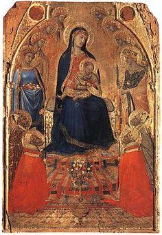 Small Maesta by Lorenzetti, Ambrogio, painter http://inpress.lib.uiowa.edu/Feminae/DetailsPage.aspx?Feminae_ID=30966