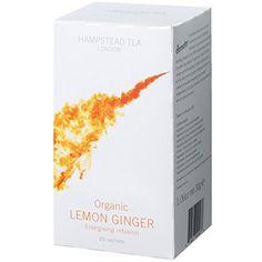 Hampstead Tea Organic Fairtrade Lemon Ginger Tea 20 Count Sachet >>> Click for Special Deals #OrganicHerbalTea Organic Herbal Tea, Ginger Tea, Gourmet Recipes, Herbalism, Lemon, Special Deals, Teas, Count, Products
