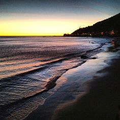 Beach in the winter  #sunset #malibu #California #beach #ocean