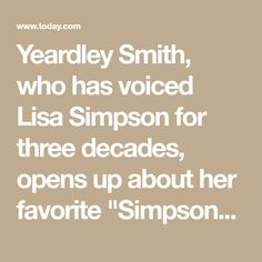 Yeardley Smith Reveals What She Loves Most About Voicing Lisa Simpson