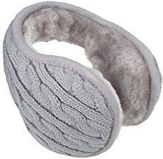 Coconut Tree Beach Illustration Pattern Winter Earmuffs Ear Warmers Faux Fur Foldable Plush Outdoor Gift