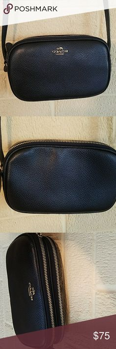 Blue Coach cross body clutch Brand new! Got as a gift but it's not my style. I'm sure it's perfect for somebody else Coach Bags Crossbody Bags