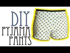 DIY Pyjama Shorts - YouTube