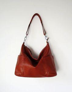 Leather hobo---Adeleshop handmade Leather bag Messenger Diaper bag Shoulder bag Tote Handbag Hip bag Women on Etsy, $181.74 CAD