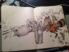 Jake Parker Liked · 13 mins Rocket Raccoon! My take on Skottie Young's version of the character. His comic is pretty amazing. Excited for the movie next week! Reference Manga, Drawing Reference, Cartoon Sketches, Cool Sketches, Character Concept, Concept Art, Character Design, Comic Books Art, Comic Art