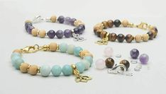 In this video you will learn how to make the Gemstone Lotus Bracelet Kit from start to finish. This strung design features beautiful gemstones combined with metal beads and a charm. Using basic tools, this design comes together quickly and easily. Diy Jewelry Tutorials, Jewelry Kits, Jewelry Making Beads, Wire Jewelry, How To Make Earrings, Diy Earrings, Chain Earrings, Beaded Bracelets Tutorial, Link Bracelets
