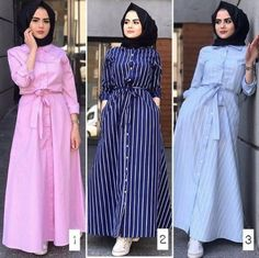 maxi striped dresses-Hijab spring 2018 – Just Trendy Girls