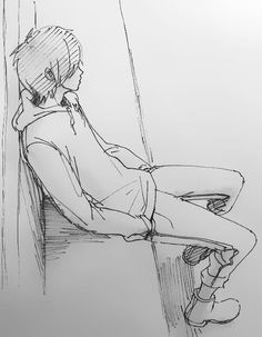 Chilling waiting for the bus... I actually like this drawing^.^