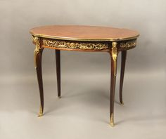 An Extremely Fine Bronze Mounted Late 19th Century Louis XV Style Table  By Gervais-Maximilien-Eugene Durand