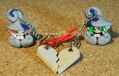 Lui & Lei: folletti innamorati by Mely's craft (Shyramwood)  #polyclay #elf #melyscraft #mely #italy #handmade