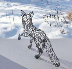 Little Fox Wire Sculpture