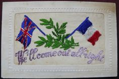 Ww1 embroidered silk #postcard. patriotic . #we'll come out all #right,  View more on the LINK: http://www.zeppy.io/product/gb/2/252626945488/