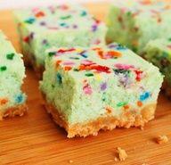 cake batter cheesecake bars,  yyum