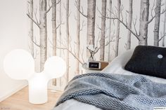 """Käyttäjän """"Karkki"""" makuuhuoneessa kasvaa metsä ;) #styleroom #inspiroivakoti #makuuhuone"""
