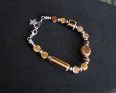 Coffee Colored Beaded Bracelet  Item Number by PirateKatsBooty