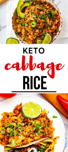 If you like cabbage as much as I do, you are going to love this delicious Keto Cabbage Rice. You will be surprised at how well this dish scratches the itch for rice without all the carbs to weight you down.  It is super-easy to make and makes a great weeknight side dish and is perfect for a low carb and gluten free diet.  #sidedish #keto #cabbagerice