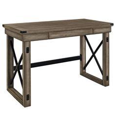 Altra Furniture Wilwood Rustic Desk with Metal Frame | eBay