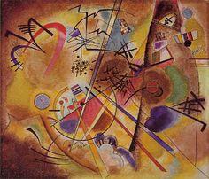 El sueño abstracto  Small Dream in Red (Wassily Kandinsky, 1925)