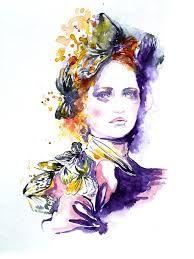 Watercolor Original Painting Titled La Scala 10 x 14 by LanasArt Watercolor Fashion, Fashion Painting, Watercolor Paintings, Original Paintings, Watercolors, Bohemian Decor, Boho, Fine Art Photography, Art Gallery
