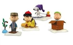 Peanuts Charlie Brown Set of 4 Christmas Action Figures 2009 @ niftywarehouse.com #NiftyWarehouse #Peanuts #CharlieBrown #Comics #Gifts #Products