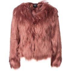 Jacket in faux fur from First And I.  Straight cut, loose design with hidden hook at front.  Two front pockets and one interior.  Made of 100% Acrylic.  The mo…