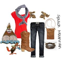 Splash Mountain Inspired Outfit, created by disneydiva305 on Polyvore #disney