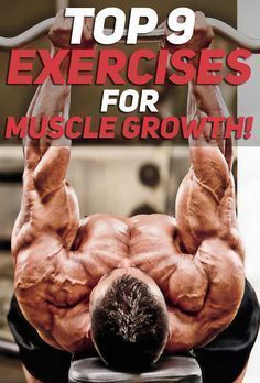The Top 9 Exercises for Muscle Growth! All of the exercises listed in the article are purposefully curated to help anyone who is trying their best to grow bigger and stronger. Most of the exercises will also help with fat loss as they are high intensity. Fitness Bodybuilding, Bodybuilding Training, Bodybuilding Supplements, Muscle Mass, Gain Muscle, Muscle Body, Bulk Muscle, Muscle Fitness, Health Fitness