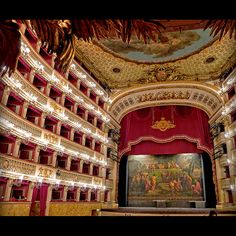 Photo doesn't do it justice.  Tyler and I watched several performances here AMAZING!  Teatro di San Carlo, Naples, Italy - oldest active opera house in Europe