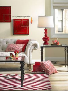 Design and decorate the house with red decorations