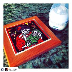 Adorable Día de Los Muertos trivet for new mom LaToya mom to my newest little relative! Heat and water resistant even for hot milk to cool down! #momlife #Repost @la_toy  #Motherhood #thecozycasita #diadelosmuertos #trivet #mexicanfolkart #mexicandecor #mexicantile #talavera #tile #tileart #tilelove #tiledecor #tileaddiction #ihavethisthingwithtiles #ihavethisthingwithcolor #calaveras #latinapreneur #latinaentrepreneur #losangeles #caligirl #cozyhome by thecozycasita