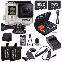 Look at this!  GoPro HERO4 Silver Edition Action Camera Camcorder 48GB Bundle 3