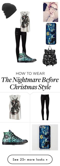 """""""Mel02389"""" by elephants4life on Polyvore featuring Paige Denim, Balmain, Converse and Airblaster"""