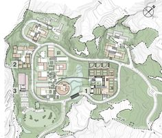 Image 22 of 27 from gallery of Dharma Drum Institute of Liberal Arts / KRIS YAO Houses On Slopes, School Plan, Master Plan, Drums, City Photo, Concept, How To Plan, Gallery, Pictures