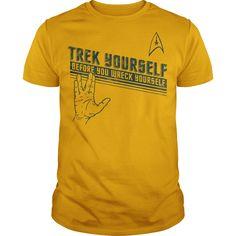 Star Trek Trek Yourself T-Shirts, Hoodies. Get It Now ==> https://www.sunfrog.com/TV-Shows/Star-Trek-Trek-Yourself.html?id=41382