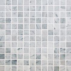 "Marble Mosaic - Elegance Collection - Italian Carrara White / 1""x1"" / Polished"