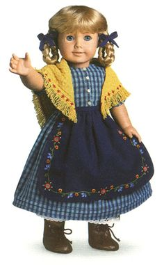 American Girl Kirsten | Details about American Girl retired Kirsten checked dress with apron ...