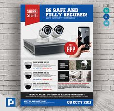 This CCTV Promotional Flyer Design has been develop to boost your marketing campaign. Flyer Design Templates, Psd Templates, Promo Flyer, Cctv Surveillance, Camera Shop, Promotional Flyers, Marketing Opportunities, Lettering, Drawing Letters