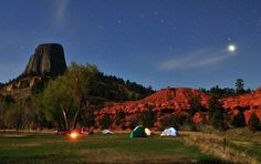 Camping next to Devil's Tower. It doesn't get much better than this.   Photo courtesy of Jolanta Surowiec